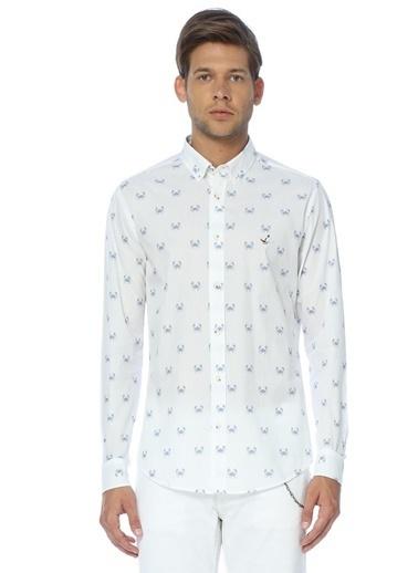 Desenli Oxford Yaka Uzun Kollu Gömlek-Beymen Club